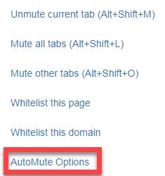 Chrome 自動靜音