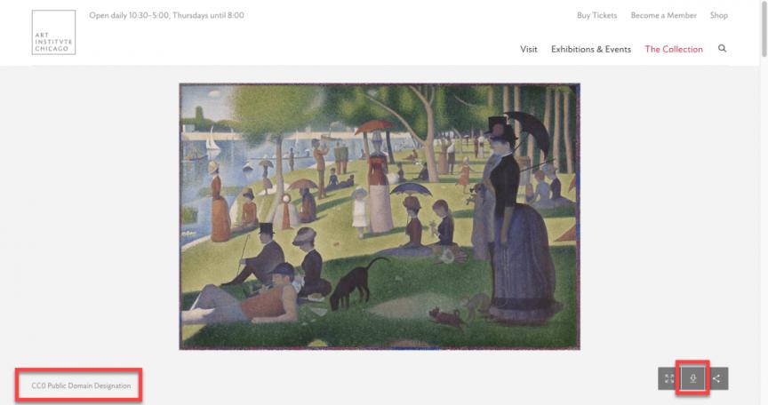 美國芝加哥藝術博物館圖庫 CC0